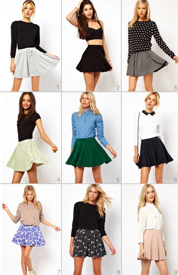 how to wear a skater skirt formally